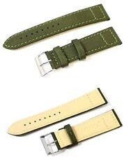 Cinturino per olorogio in cordura verde con fondo in lorica ansa 20mm watch