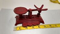 ANTIQUE CAST IRON SCALE  RED