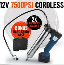 "7,500 PSI 30"" Grease Gun Cordless Battery 12v Electric Rechargeable 1500 mA/H"
