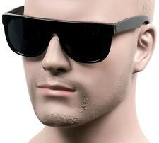 Flat Top Cholo Sunglasses Super Dark OG LOC Style Gangster Black/Glossy 279