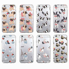 Cute Puppy Pug French-Bulldog Soft Case Cover For iPhone 6 Plus 7 8 X Samsung J5