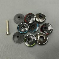 """Carbon Fiber 3K Headset Stem Top Cap Cover + Bolt For 1-1/8"""" MTB Road Bike Fork"""