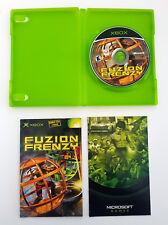 Microsoft Xbox Fuzion Frenzy Video Game Complete Manual Case X360 Compatible 360