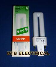 Osram PLS Dulux-S Biax-S PL-S Lynx-S 5 watt 2 pin G23 827 warm white