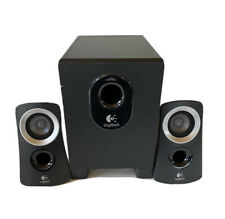Logitech Z313 3-pc 2.1 Speaker System - Black / Silver w/ Wired Remote - Tested