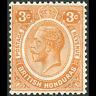 BRITISH HONDURAS 1922-33 3c Orange. SG 129. Lightly Hinged Mint. (AM634)