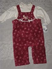 New Walt Disney 2pc long sleeve bodysuit overall Pants set girls 6 m Winnie pooh