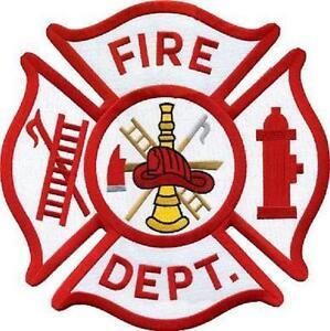 "Maltese Cross Generic Fire Department Shoulder Patch Emblem 3.5"" #5385"