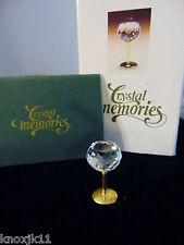 NEW Swarovski Crystal Memories Mini WINE GOBLET Water Glass Figurine w/ Box 1996