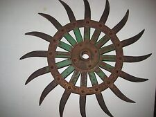Rotary hoe wheel steampunk metal art decor lawn and garden