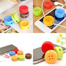 couvercle de protection  fil de casque d'écoute bouton Macaron chaud durable