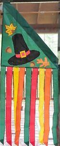 Pilgrim Hat Wind Banner Standard Flag by NCE #70706 Thanksgiving