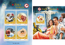 Zika Virus Medicine Mosquitos Insects Sierra Leone MNH stamp set