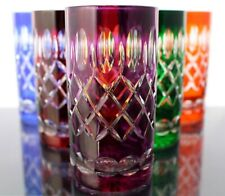 Longdrink Lens, Roman Lead Glass, 6 X (283), Coloured Crystal Highball Glasses