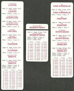 Cincinnati Royals APBA 10 Card Team Set 1968-69 Season Oscar Robertson J. Lucas