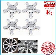 4pcs. AUDI WHEEL CENTER CAP A4 S4 S5 A5 A6 S6 S8 Q5 Q7 TT hub caps SET Silver