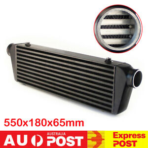 2.5'' Outlet/Inlet Bar &Plate Front Mount Turbo Intercooler 550x180x65 Universal