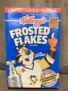 Kellogg's Frosted Flakes 1992 Stanley Cup Pittsburgh Penguins Champions Unopened