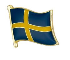 Sweden Flag Pin Lapel Badge Sverige Swedish High Quality Gloss Enamel