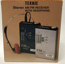 TEKNIC Portable AM/FM Stereo Receiver with Headphone Belt Clip NEW in box