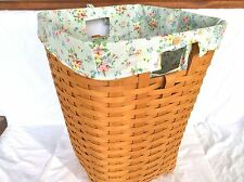 MIXED BOUQUET Fabric Liner ONLY Hamper Waste Laundry NO Basket Longaberger NEW