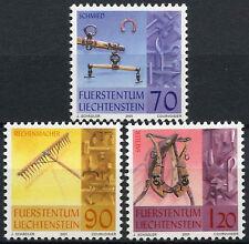 LIECHTENSTEIN 2001 SG#1257-9 artisanat traditionnel neuf sans charnière Set #D2045