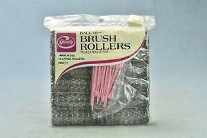 Vintage 1977 GOODY BALL TIP 12 LARGE BRUSH ROLLERS + 14 ROLLER PINS NIP #02022