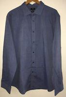 """Mens Blue Shirt Collar 18.5"""" F&F <NZ4942"""