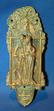 An antique door knocker, gothic, medieval, church, religious, St Helena, brass