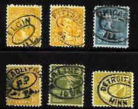 "Oval Town Collection ""Elgin Ill Burlington Iowa Detroit Minn & More"" US 89D11"