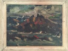 Joseph Anthony Buzzelli - Oil on Canvas in Frame - Seascape
