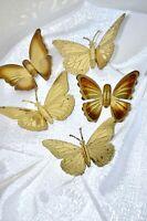 Vintage, Mid Century Metal Butterfly Wall Hangings (Set of 5)