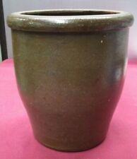 "Antique Salt Glazed  Stoneware Crock- 8.5"" Tall"
