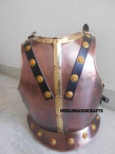 Medieval Spartan Copper Breastplate Armor Jacket Warrior Halloween Costume