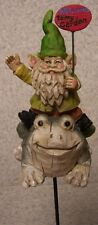 Garden Accent Welcome to my Garden Gnome New freestanding or mount on a stake