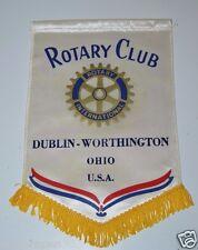 RARE Vintage Dublin Worthington Ohio Rotary International Club Wall Banner Flag