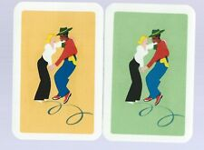 Vintage Playing Swap Card    June Clearance x 2  Couples Dancing