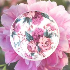 French Roses Wallpaper Ceramic Knob cabinet Drawer Pull bedroom chic Lavender