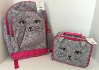 Gymboree Girls Kitty Backpack & Lunch Box Set NEW