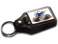 YAMAHA QUAD BIKE Koolart Quality Leather and Chrome Keyring