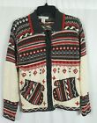 Project Multi Color Ugly Sweater Cardigan Mitten Pockets Ugly Christmas Medium