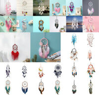 Romantic Feathers Beads Dream Catcher Bedroom Car Hanging Pendant Art Decor
