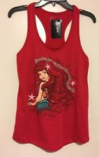 NWT Disney's The Little Mermaid Ariel Part of Your World Red Tank Top Jr Size XL
