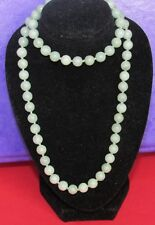 Secondhand jade multi beaded necklace with 9ct yellow gold clasp (46.5cm)