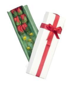 Puppenhaus Verpackt Schachtel Mit Rosen Miniatur Blumen Gift Laden Zubehör 1:12