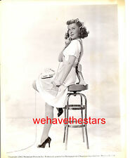 Vintage Paulette Goddard SEXY LEGS TELEPHONE PINUP '43 Publicity Portrait