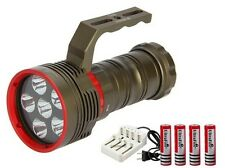 SKYRAY DX6 10000LM 6X CREE XM-L2 LED 200M Diving Scuba 18650 Flashlight Torch