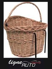 Panier velo bicyclette osier pour guidon de velo anse pour les courses sacoche