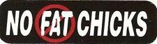 NO FAT CHICKS HELMET STICKER