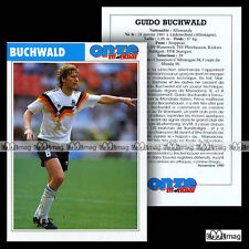 Guido buchwald (vfb stuttgart) - card football/fussball 1990